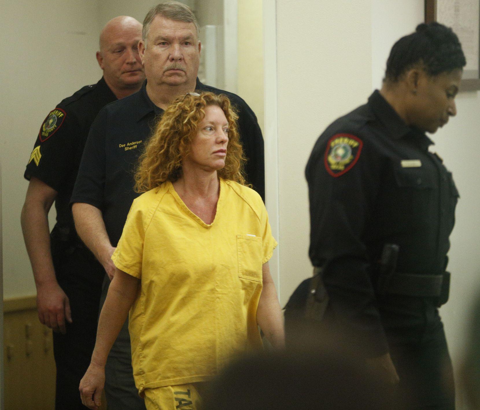 Tonya Couch walks into her arraignment by Judge Wayne Salvant on Jan. 8, 2016.