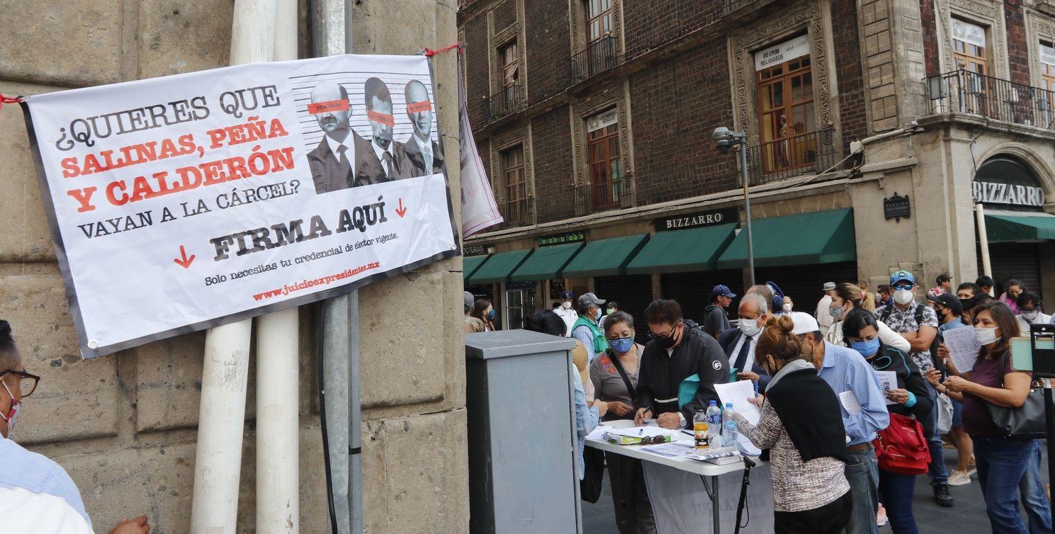 El presidente Andrés Manuel López Obrador sugiere consultar a la ciudadanía para llevar a juicio a ex Presidentes de México.