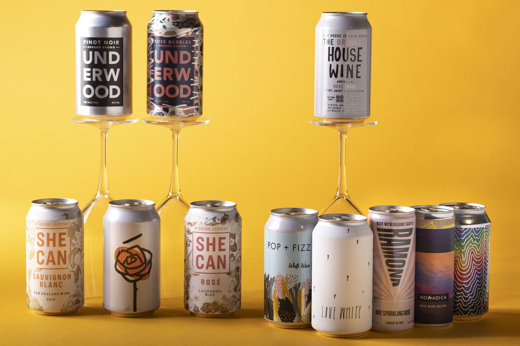 The wine panel's selections of canned wines