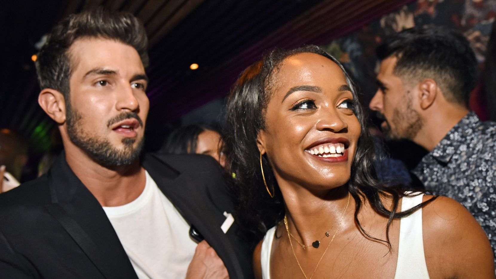 Rachel Lindsay and her husband, Bryan Abasolo, shown at the restaurant Nikkei in Uptown Dallas in 2017.