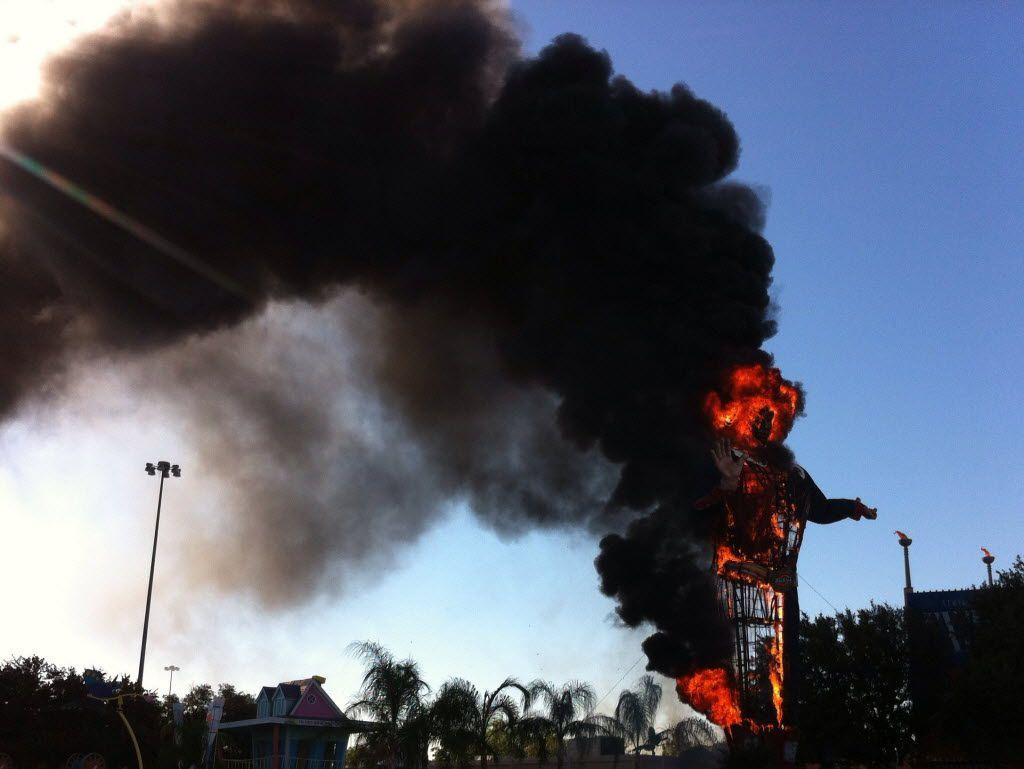 Big Tex burning in 2012