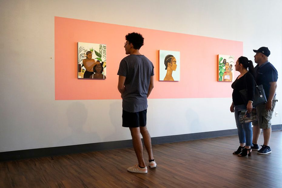 "Artist Ari Brielle's work ""Safe Place"" is being displayed at the Oak Cliff Cultural Center in Dallas. Her work explores the challenges of African American women in today's society."