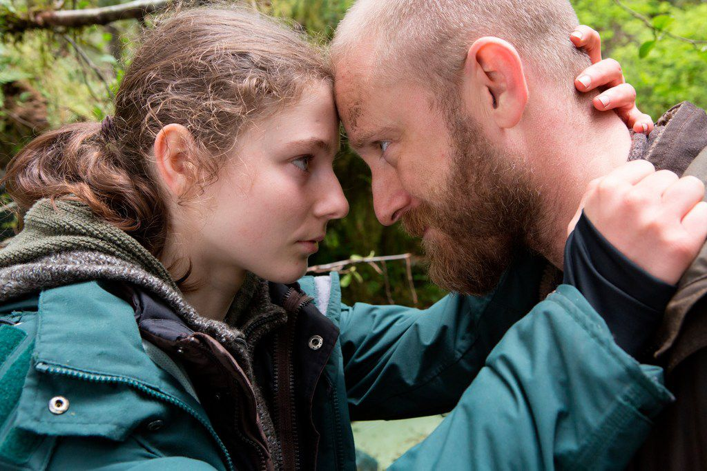 This image released by Bleecker Street shows Thomasin Harcourt McKenzie, left, and Ben Foster in a scene from Leave No Trace.