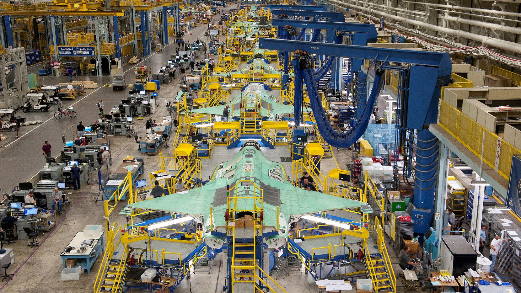 Lockheed Martin builds the F-35 Joint Strike Fighter in Fort Worth.
