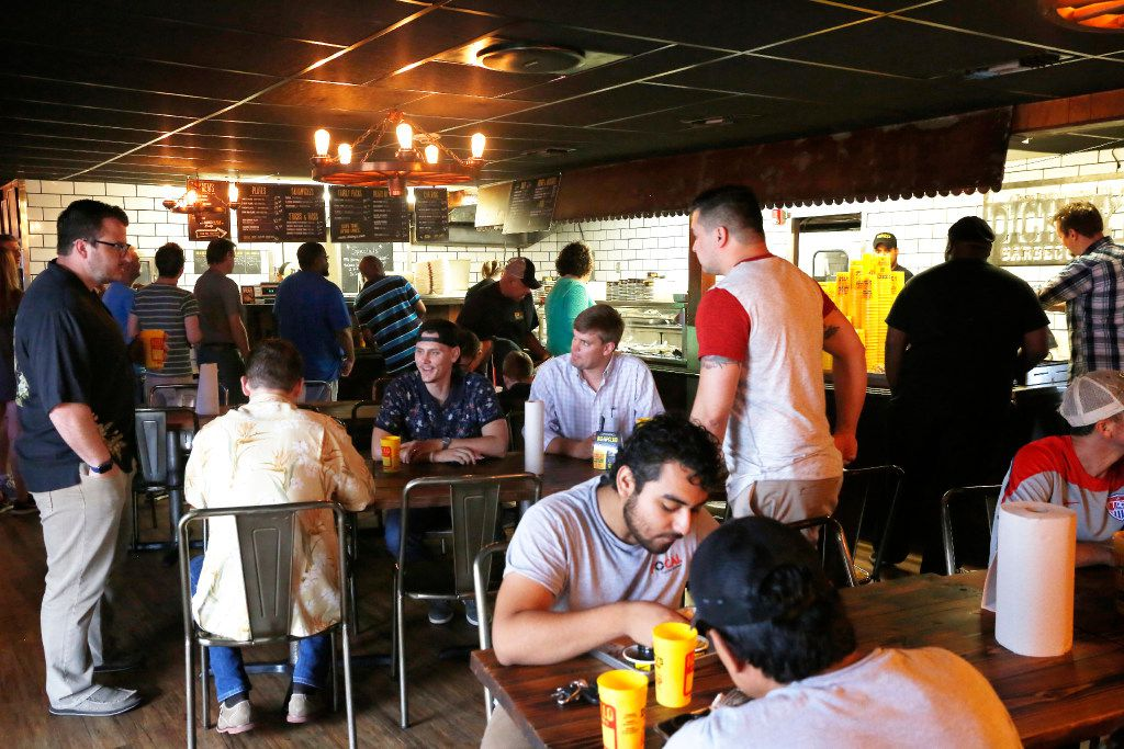 The oldest Dickey's Barbecue Pit on Central still draws a lunch crowd.