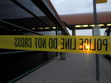 Police tape is seen in this file photo.
