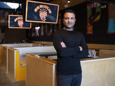 Imran Sheikh, CEO and co-founder of a restaurant group named Milkshake Concepts, has opened 10 restaurants in Dallas, Fort Worth and its suburbs and one nightclub since 2015. He's pictured here just before the re-opening of Serious Pizza in Deep Ellum.