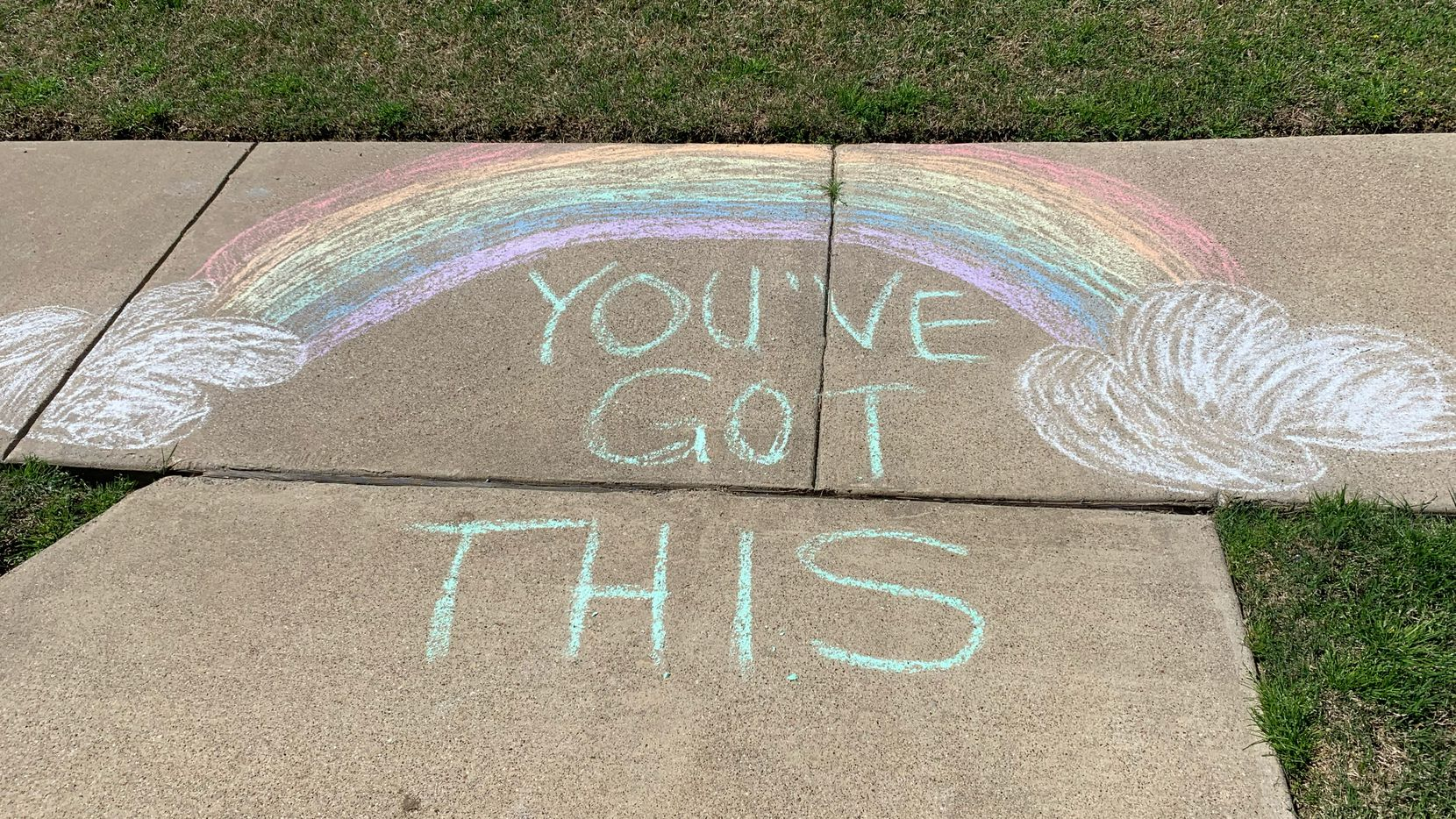 Tyra Damm came across a colorful, encouraging message on a recent walk.