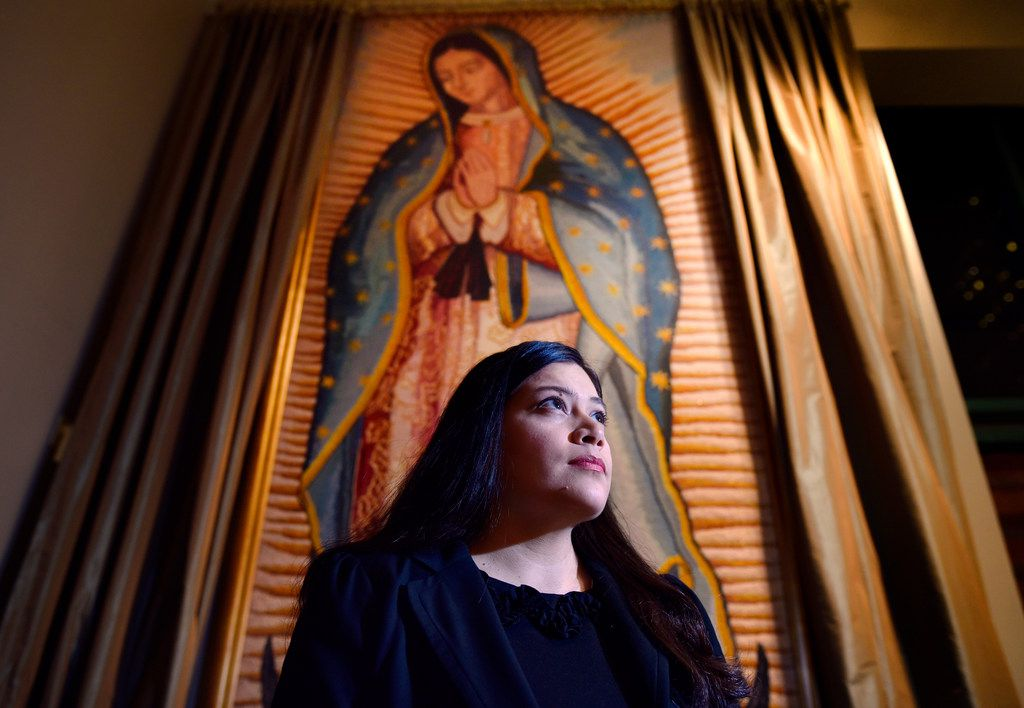 Lisette Moreno has attended the novenas at the Cathedral Shrine of the Virgin of Guadalupe in downtown Dallas for 14 years.