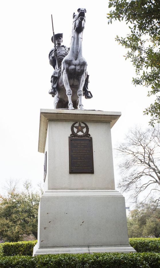 The Terry's Texas Rangers monument outside the Texas state capitol on Thursday, February 26, 2015 in Austin, Texas.
