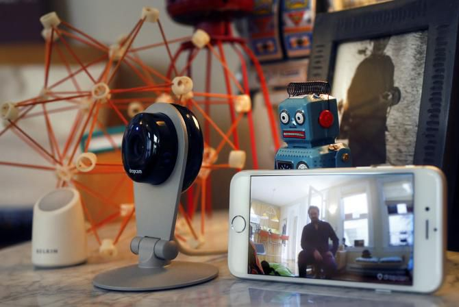 """Tom Coates has filled his San Francisco home with smart gadgets, including a phone-activated security camera. """"We need to look at its benefits,"""" he said of the Internet of Things, but also """"look at the risks and minimize them."""""""