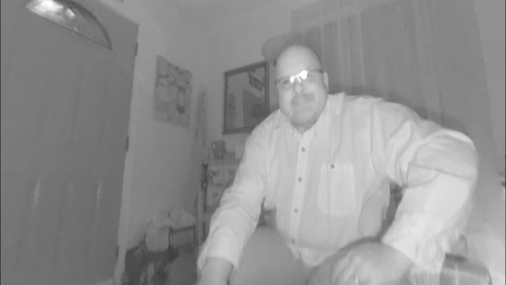 The Guardzilla 360 has good night vision. It captured this still image in almost complete darkness.