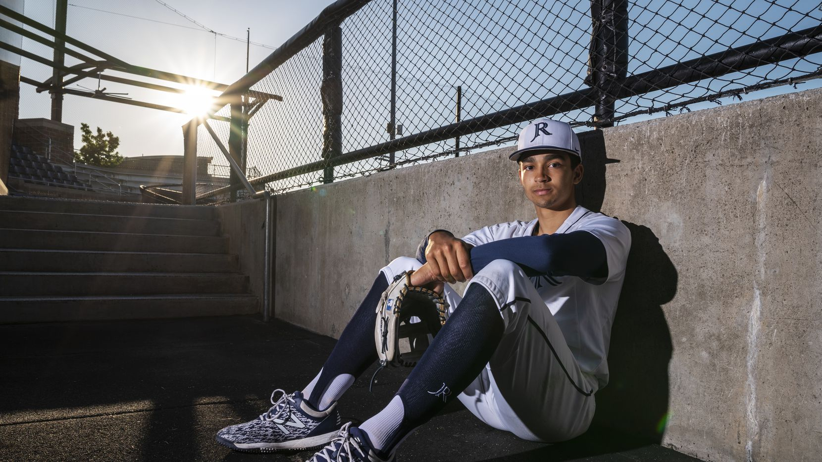 Jesuit senior shortstop Jordan Lawlar, 18, in the dugout of the Jesuit Rangers on the campus of Jesuit College Preparatory School of Dallas, on Tuesday, May 04, 2021.