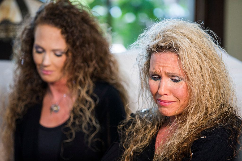 Ashley Bourdelais and Diane Wallace talk about the death of Andy DeBusk at Wallace's home near Lipan, Texas. Wallace, DeBusk's mother, and Bourdelais, his sister, say DeBusk was sober for a decade before relapsing in 2016.
