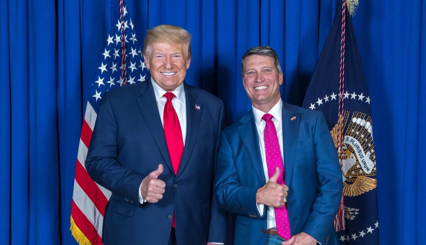 Pres. Donald Trump and Dr. Ronny Jackson. Jackson is the Republican nominee in Texas' 13th Congressional District.