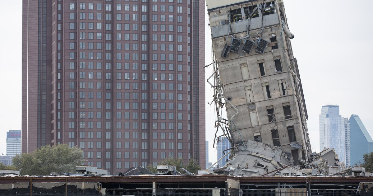 'Leaning Tower of Dallas' survives implosion to become internet sensation