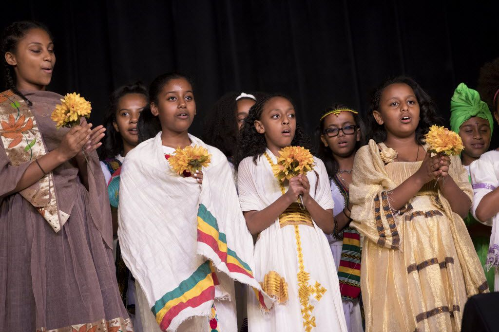 The Ethiopian Cultural Festival in Garland will feature historical displays, Ethiopian food, a fashion show, kids' programming and more. Above: Kids dressed in traditional Ethiopian outfits for a 2016 event in Plano.