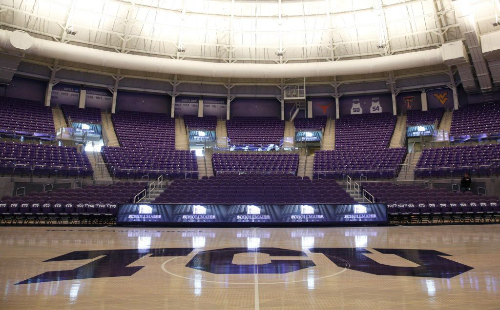 The Ed and Rae Schollmaier Arena, TCU's newly renovated basketball arena in Fort Worth, Texas on Dec. 15, 2015. (Rose Baca/The Dallas Morning News)
