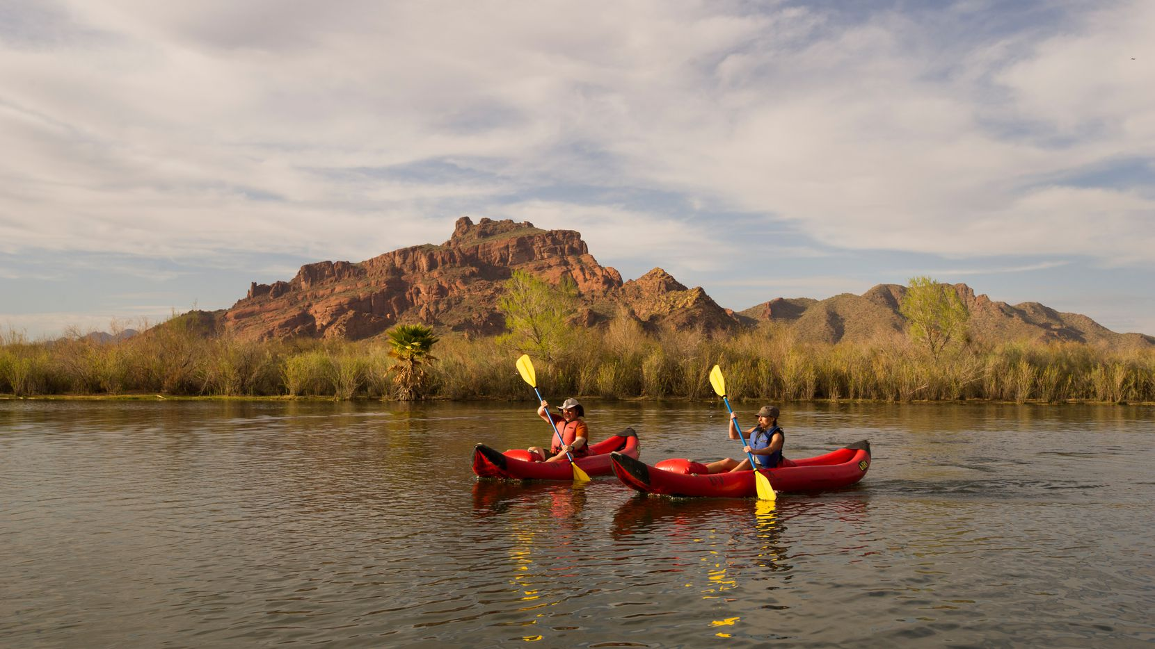 Along with mountains, you might spot bald eagles, wild horses and other wildlife during a kayaking trip along the Lower Salt River.