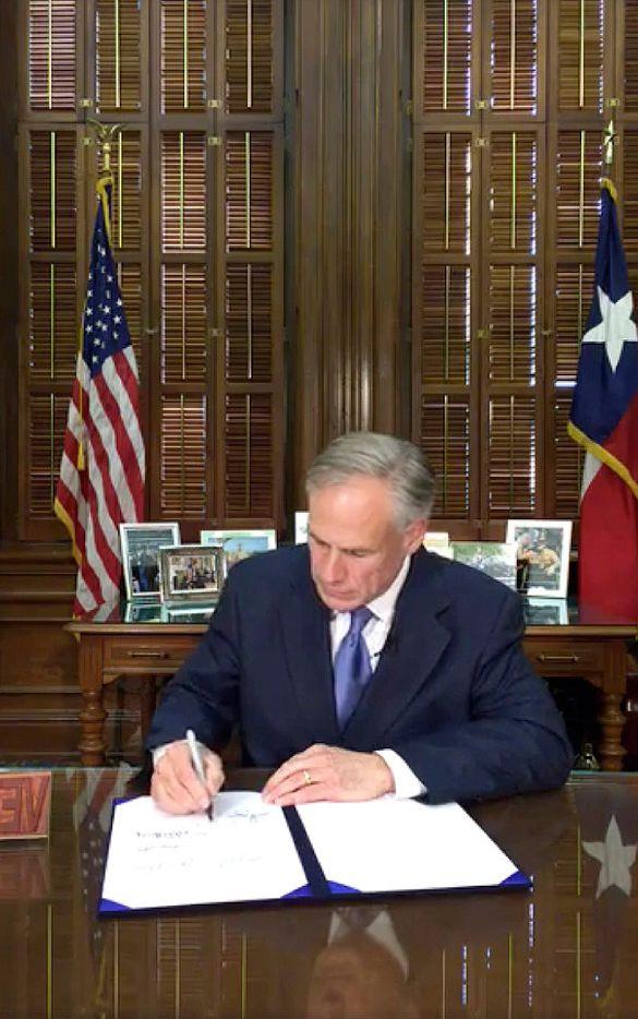 Texas Governor Greg Abbott signed Senate Bill 4  on Facebook Live on Sunday.