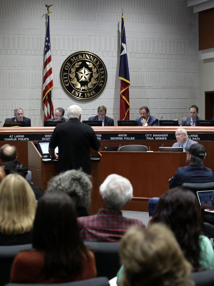 Citizens speak during a council meeting at McKinney City Hall in this file photo.