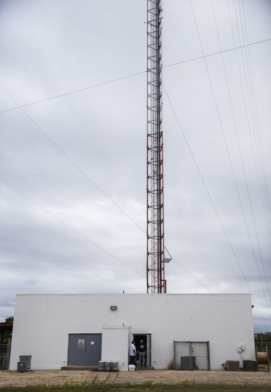 KNON's station was able to temporarily relocate to the antenna site in Cedar Hill.