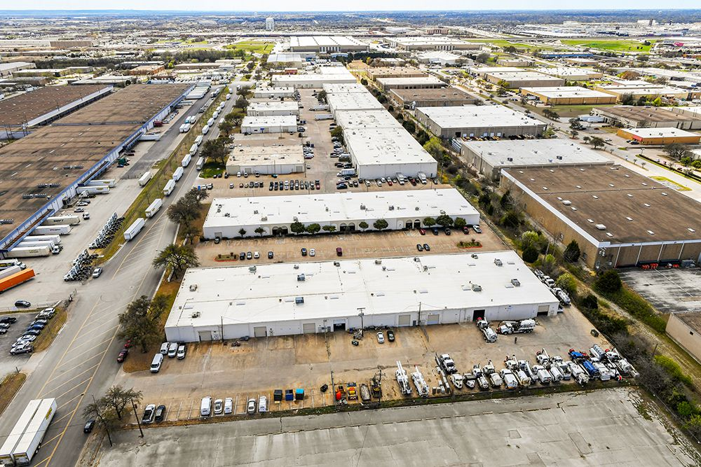 The Arlington industrial buildings are are 77% leased.