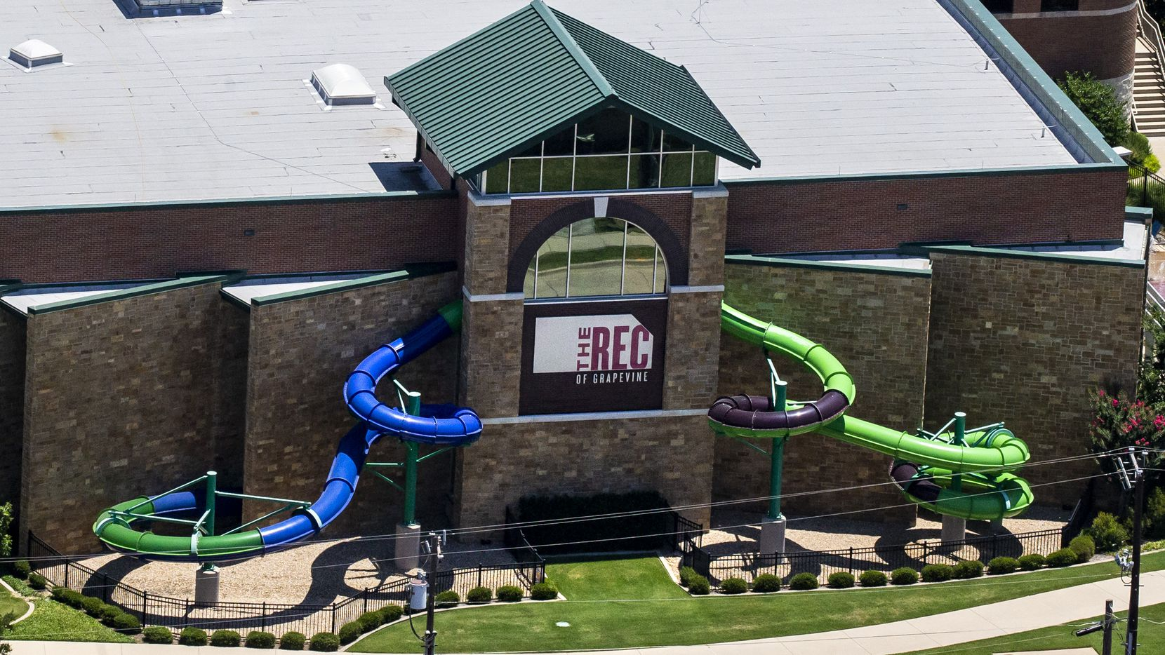 The REC, a multi-generational recreation facility of the Grapevine Parks and Recreation Department, in Grapevine, Texas, on Thursday, June 18, 2020. (Lynda M. Gonzalez/The Dallas Morning News)