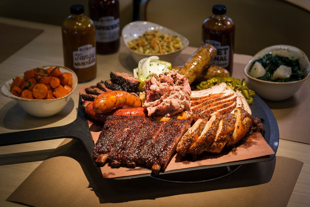 The Family Table BBQ Feast at Pappas Delta Blues Smokehouse feeds four to five people for $118.95 or eight to 10 people for $199.95.