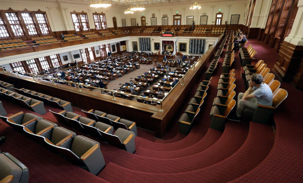 The Texas House had few visitors Friday as legislators rushed to finish business.