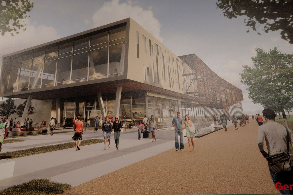 An artist's rendering of what a future campus for the University of North Texas could look in Frisco.