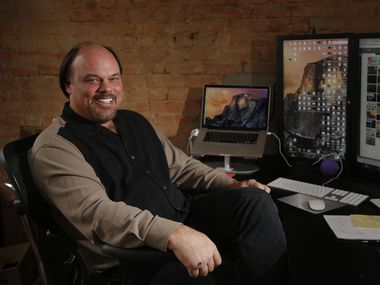 Dave Copps, CEO and founder of Brainspace, at his office in Dallas on April 28, 2015. The Dallas startup, has created a software system to help customers sort through millions of documents. (Michael Ainsworth/The Dallas Morning News)