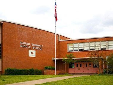Dallas ISD's Zumwalt Middle School. (Courtesy photo/DISD)