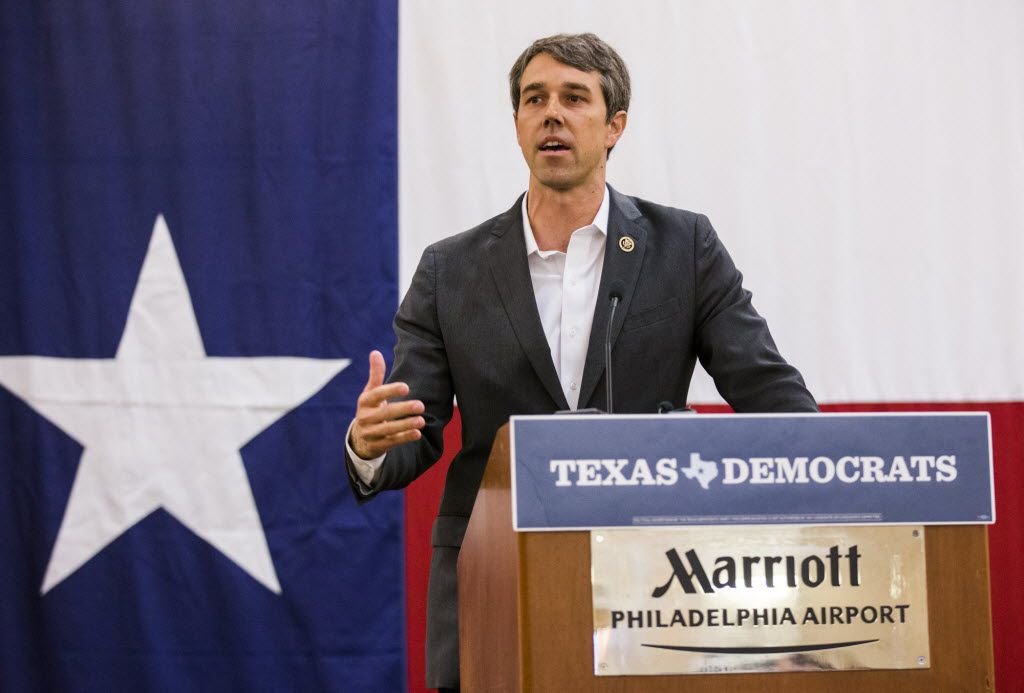 U.S. Representative Beto O'Rourke speaks at the Texas delegation breakfast during day four of the Democratic National Convention on Thursday, July 28, 2016 at the Philadelphia Airport Marriott in Philadelphia, Pennsylvania. (Ashley Landis/The Dallas Morning News