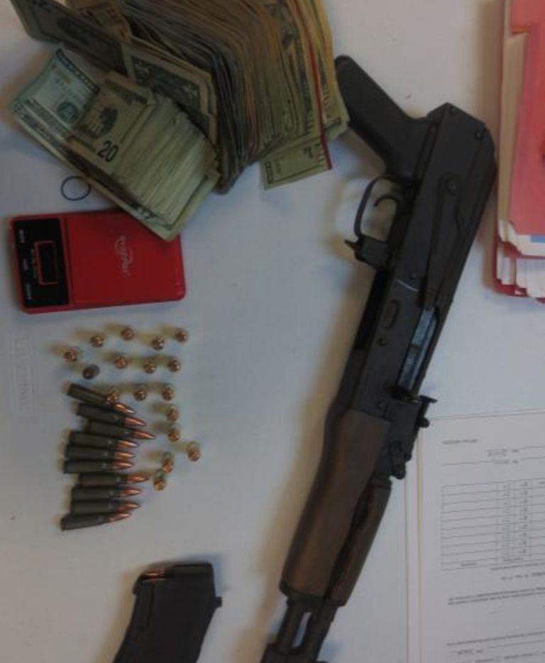 CBP officers at Presidio port discovered an AK-47 pistol along with 47 rounds of ammunition and more than $10,000 hidden in a truck.