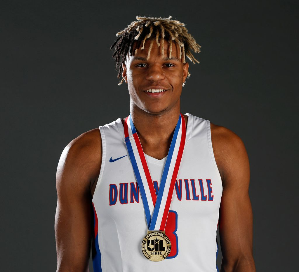 Duncanville senior Jahmius Ramsey poses for a photograph in The Dallas Morning News studio on Tuesday, March 12, 2019. (Rose Baca/Staff Photographer)
