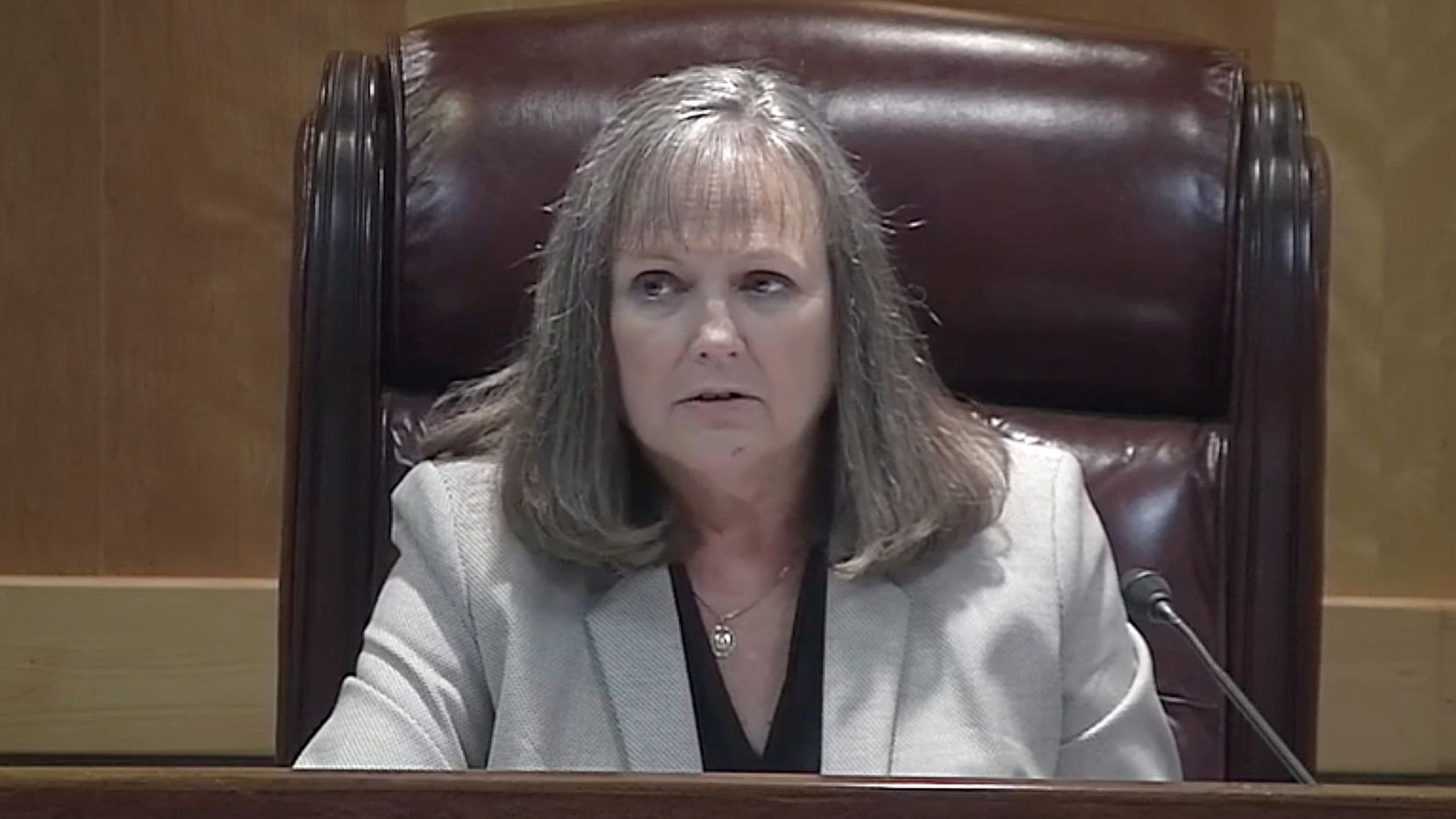 Public Utility Commission Chairman DeAnn Walker made angry comments about her staff at a July 2020 public meeting and scolded them in public. Several days later, the 10-person Oversight & Enforcement division was permanently shut down.