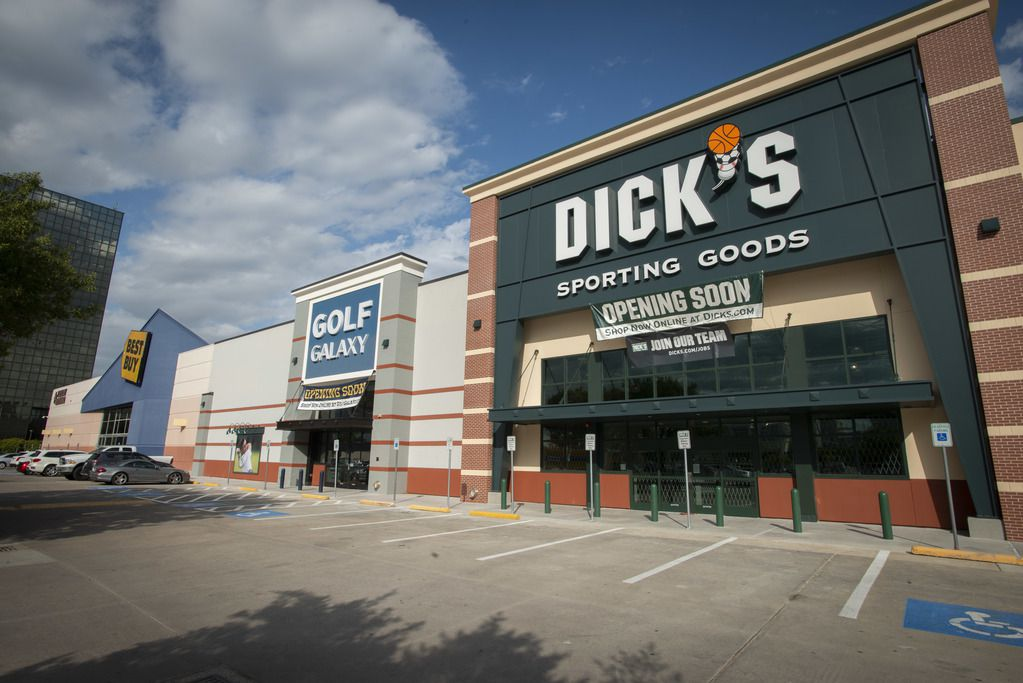 Golf Galaxy and Dick's Sporting Goods sit side by side on North Central Expressway.