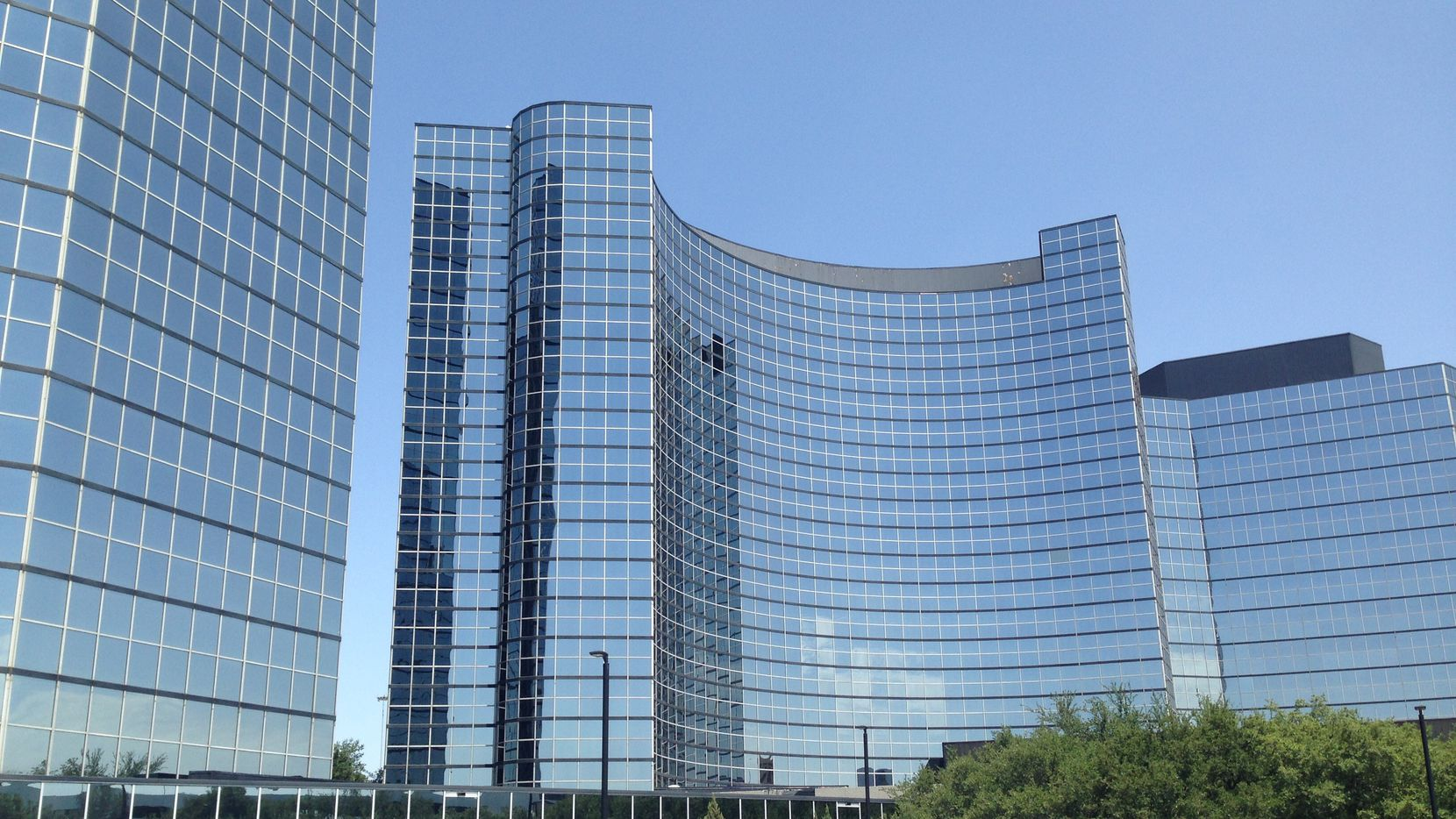 The 500-room Hilton hotel is one of North Dallas' largest.