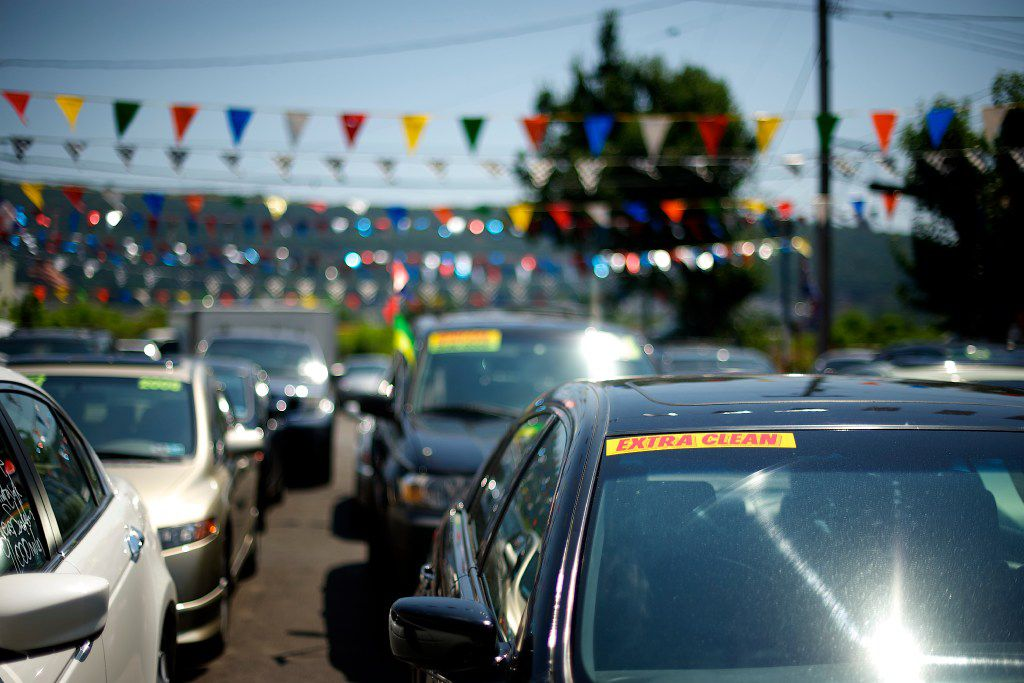 FILE Ã' A used-car lot on a sunny day in Reading, Pa., July 16, 2013. With new vehicles averaging a record $34,000 in 2016, more and more buyers are chasing used models just a few years old. (Mark Makela/The New York Times)