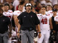 Head coach Matt Wells of the Texas Tech Red Raiders watches from the sidelines during the second half of the NCAAF game against the Arizona Wildcats at Arizona Stadium on September 14, 2019 in Tucson, Arizona.