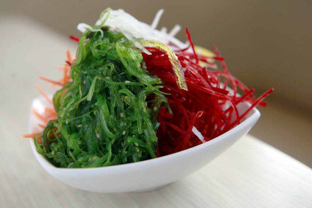 Seaweed salad from Zen Sushi in the Bishop Arts District.