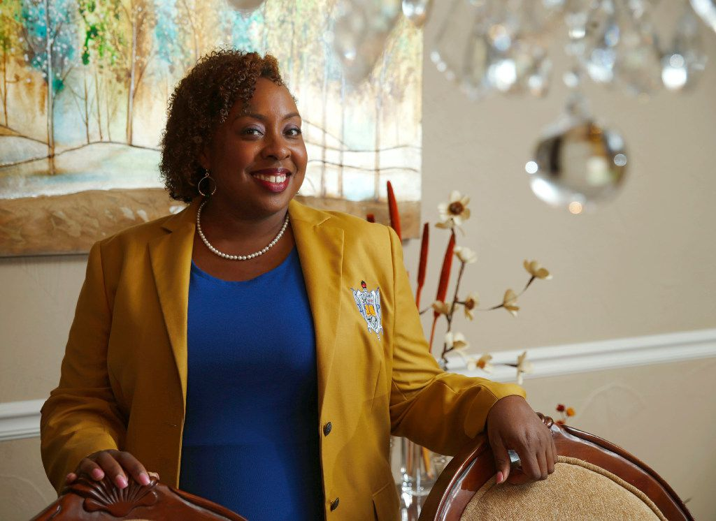 Robin Birt, basileus (president) of the Alpha Omicron Sigma Chapter and the International Rhodes Coordinator of Sigma Gamma Rho Sorority, continues the legacy by mentoring younger members.