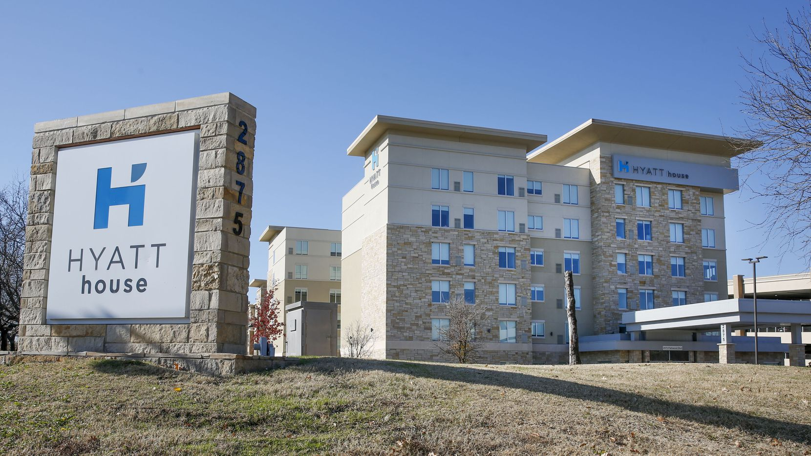 The Hyatt House on Parkwood Boulevard in Frisco is one of the hotels listed in the lawsuit.