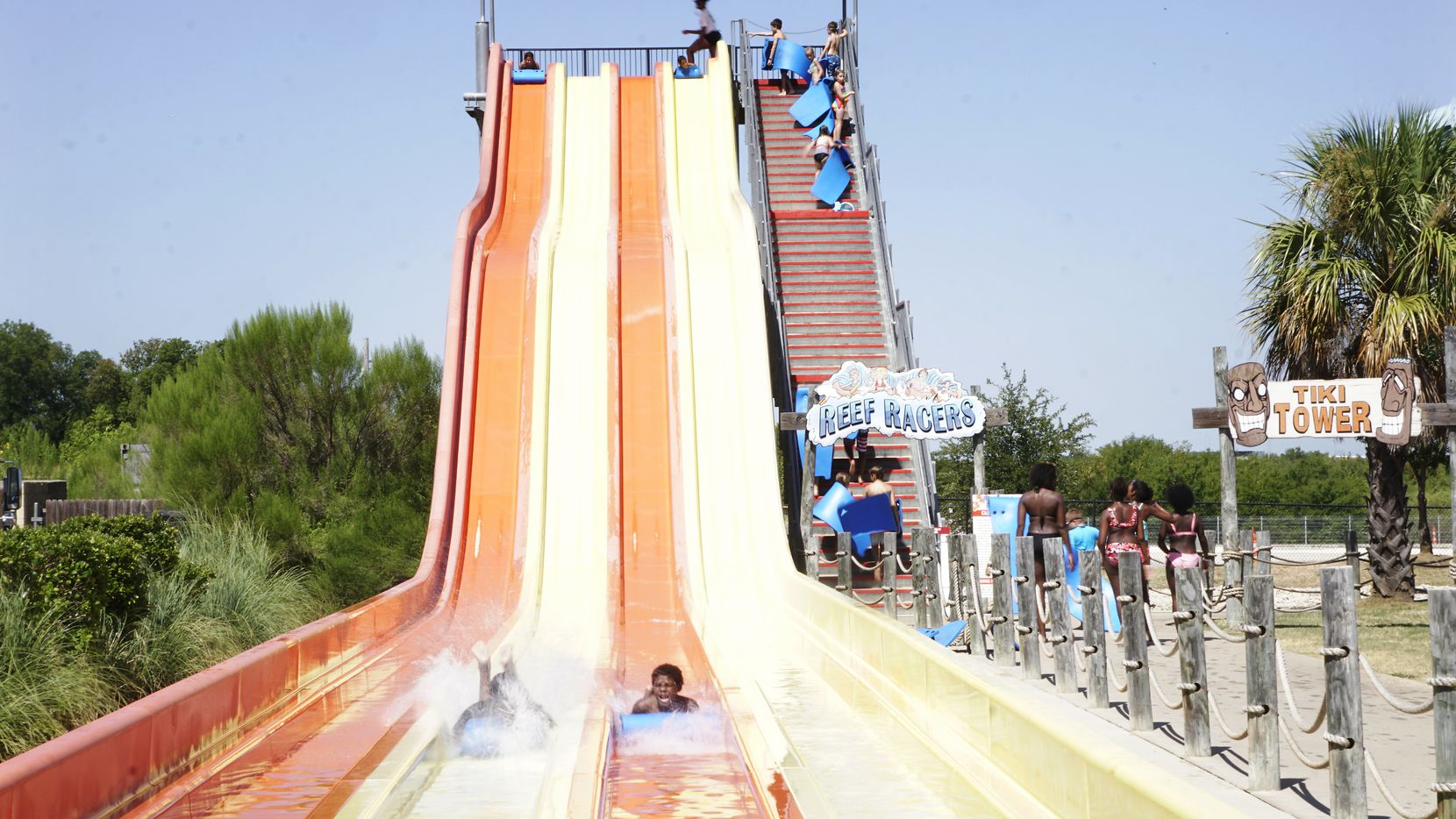 Hawaiian Falls' water park in Mansfield will be one of the first to reopen in North Texas.