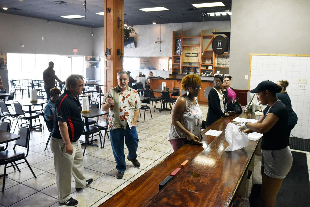 The main counter and dining room inside Winners BBQ in Plano.