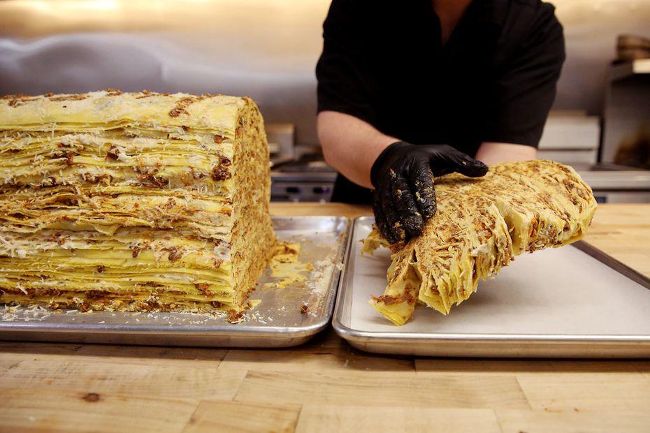 The 100-layer lasagna will be on the menu when chef Julian Barsotti opens his latest restaurant, Fachini.