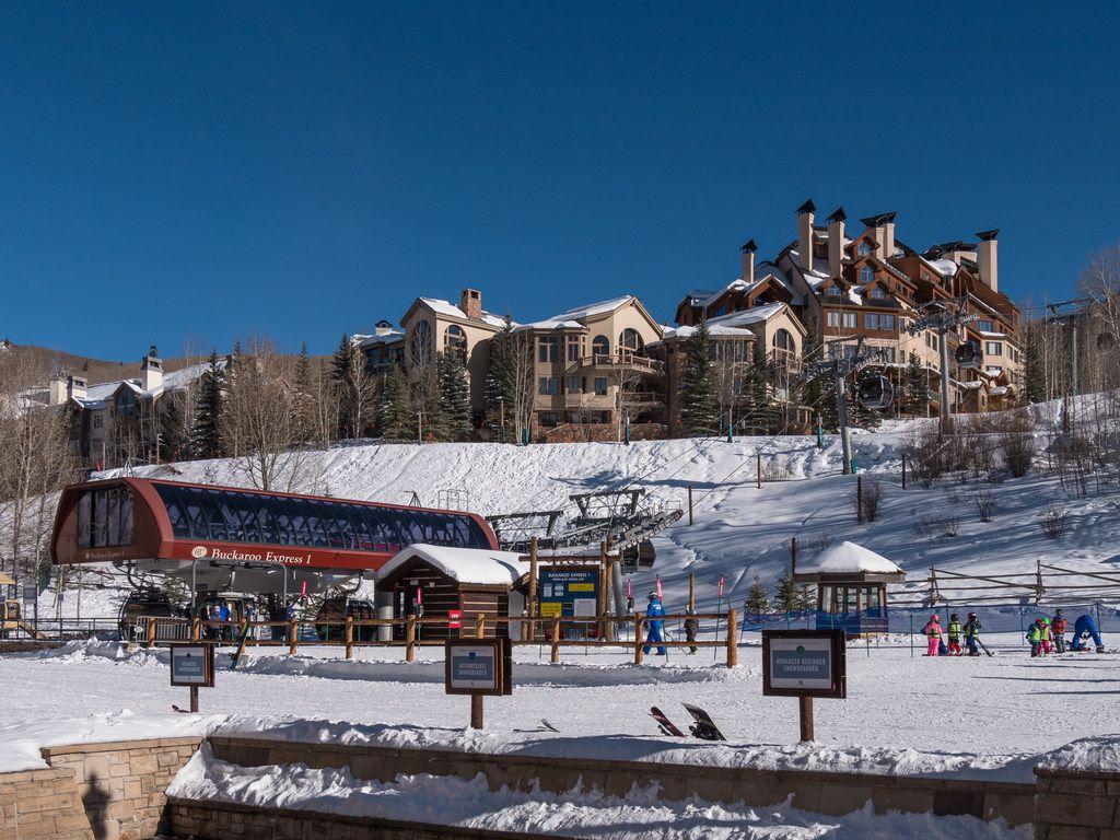 The Buckaroo Express gondola serves base-area kid's slopes at Colorado's Beaver Creek Ski Resort.  Atop the mountains, the new Red Buffalo Park will provide a family adventure zone.