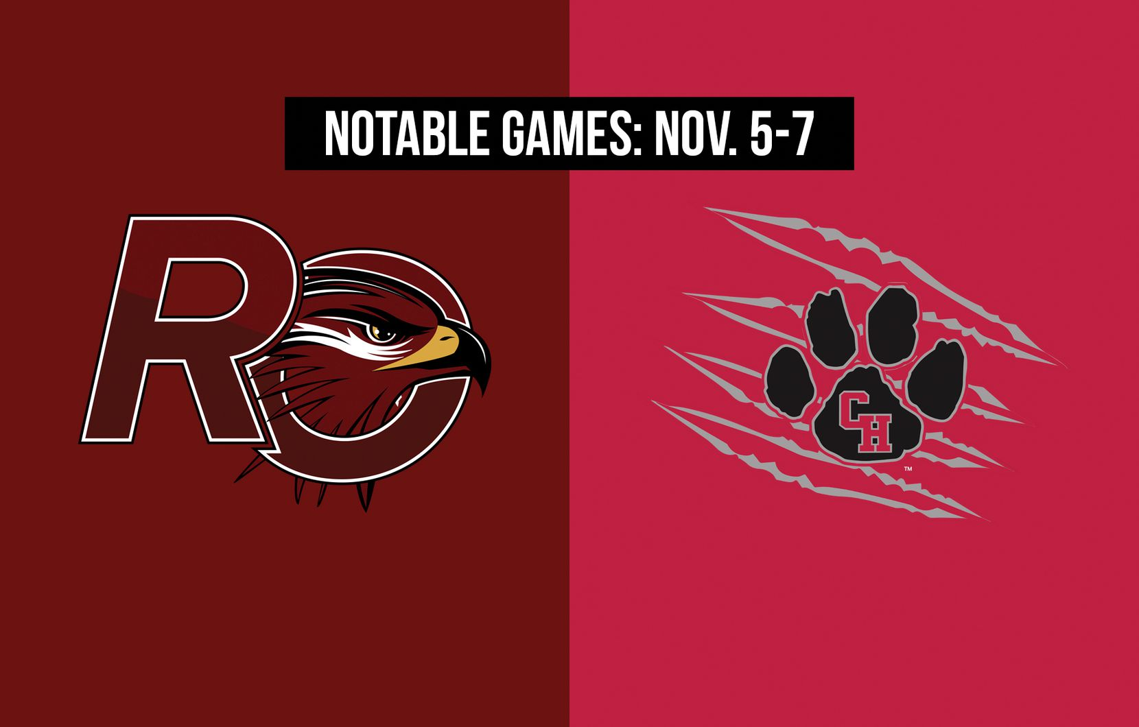 Notable games for the week of Nov. 5-7 of the 2020 season: Red Oak vs. Colleyville Heritage.