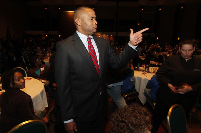Fort Worth Rep. Marc Veasey was one of four Texas Democrats on Wednesday to urge President Joe Biden to rethink his moratorium on new federal oil and gas drilling permits. (Michael Ainsworth/The Dallas Morning News)